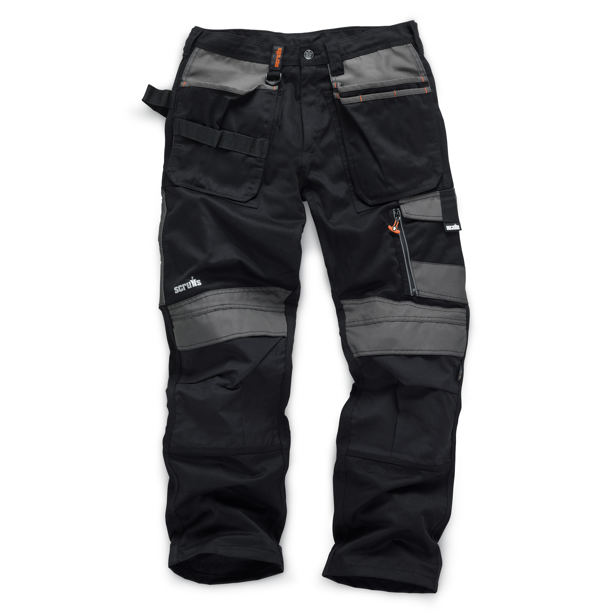 Scruffs 3D TRADE BLACK Cargo //Combat Work Trousers with FREE FACE MORF