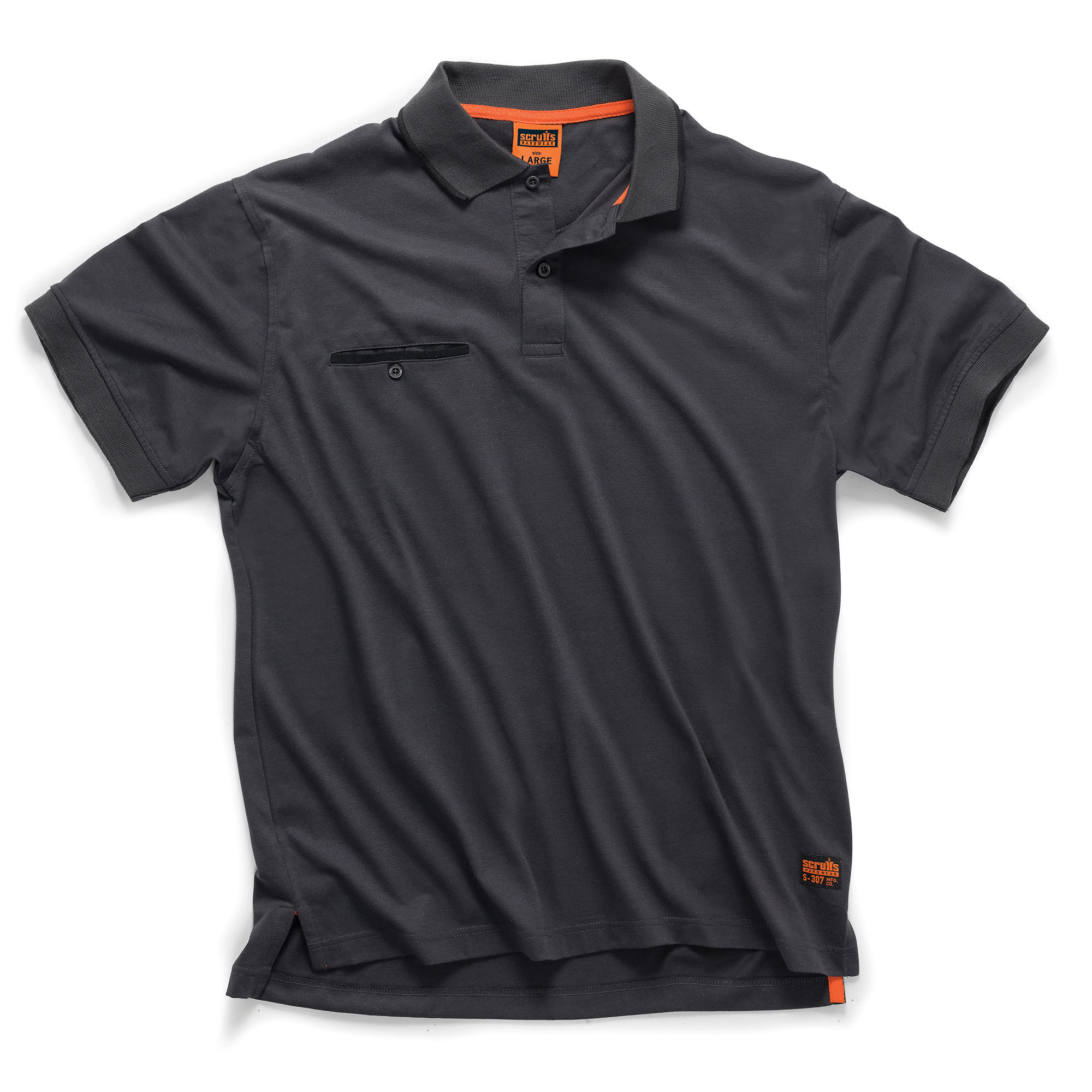 Scruffs Worker Polo Black OR Graphite Small to XX Large